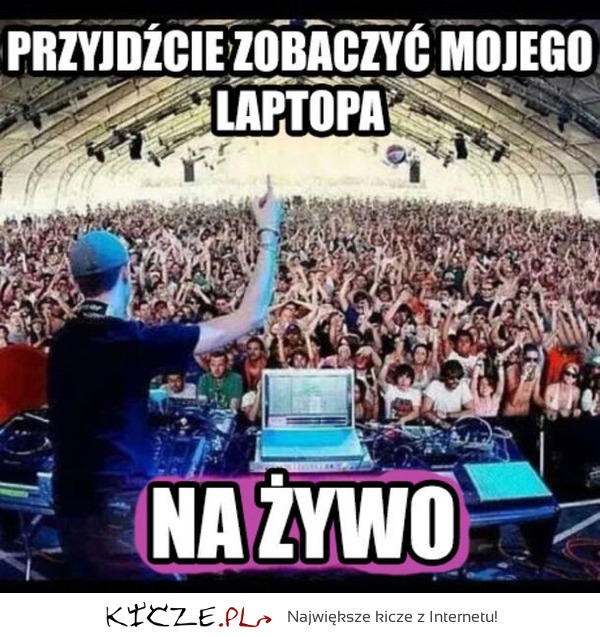 Laptop na żywo